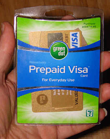 this reloadable debit card comes in a compact package not much larger than the card itself - Green Dot Prepaid Visa Card